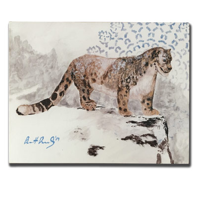 Limited Edition 11x14 Canvas Prints - Leopard on a Ledge