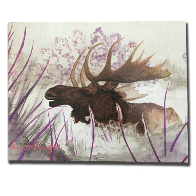 Limited Edition 11x14 Canvas Prints - Mr. Mauve Moose