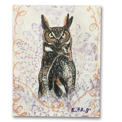 Limited Edition 11x14 Canvas Prints - Owl of Details