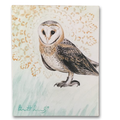 Limited Edition 11x14 Canvas Prints - Snow Owl