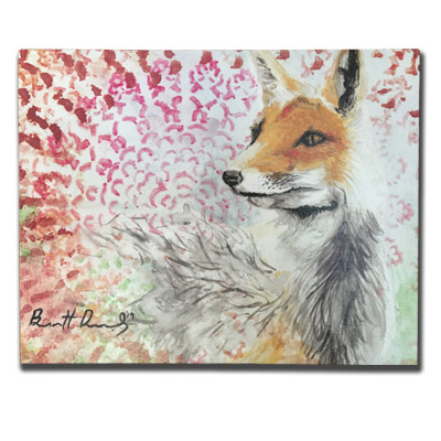 Limited Edition 11x14 Canvas Prints - Tie Died Fox